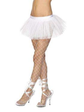 Ladies Fancy Dress - White 80s Tutu